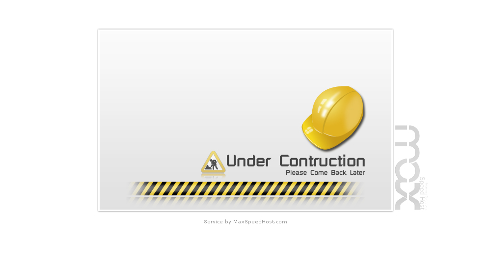 Under Construction : service by MaxSpeedHost.com